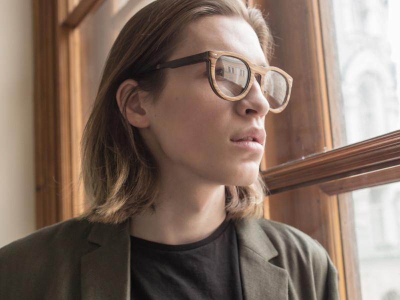 Деревянные очки Woodwedo Peace