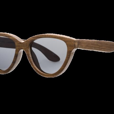 Солнцезащитные очки в деревянной оправе Woodwedo Koshka — бок
