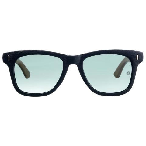 очки с деревянными дужками Blues Legend зелёная линза